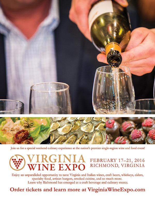 Virginia Wine Expo Print Ad Graphic Design