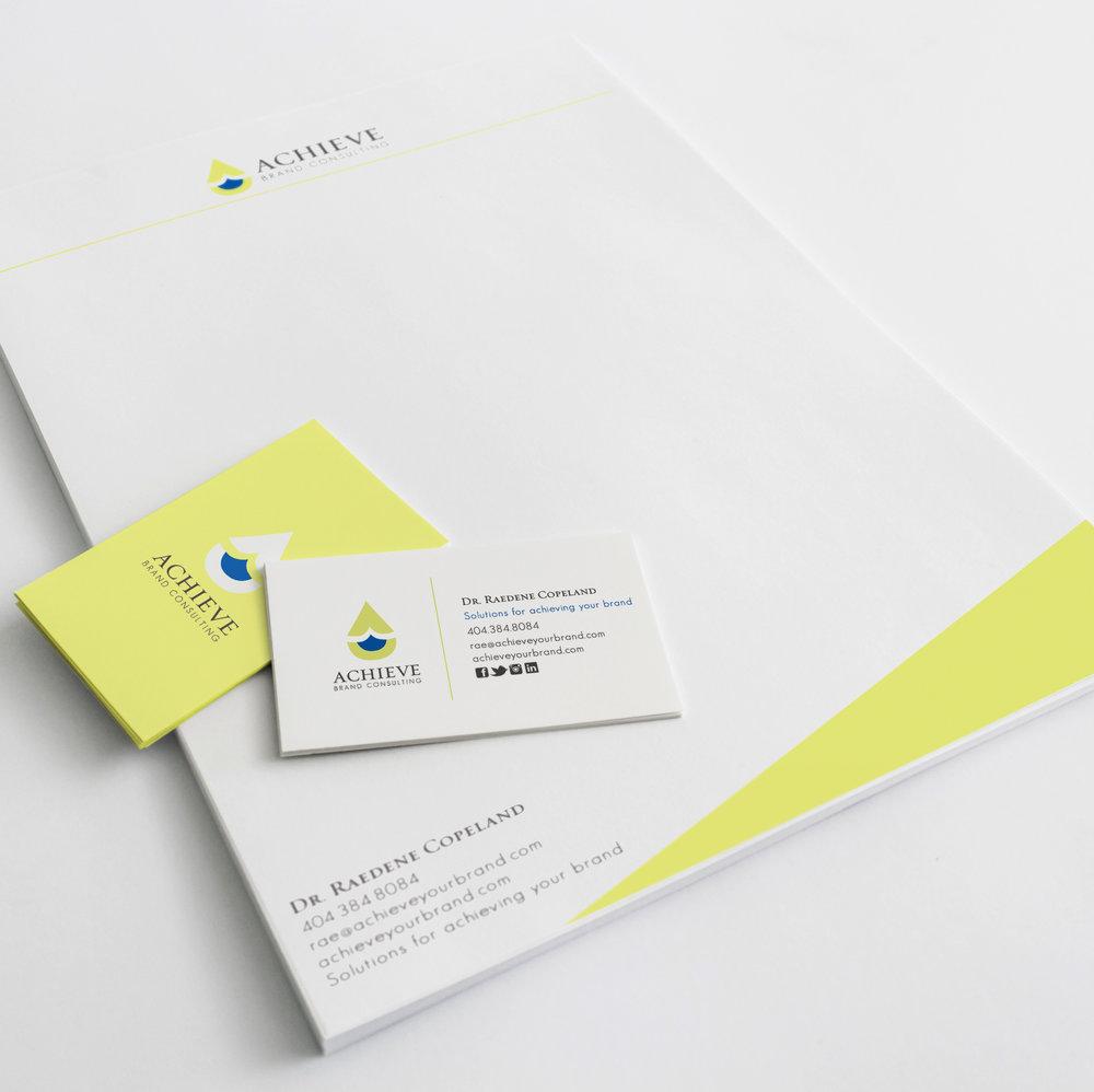 Achieve Letterhead Graphic Design