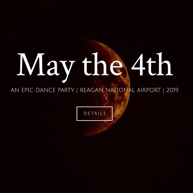 I am beyond thrilled to announce my next big event! May the 4th DC, an outer space dance party at Reagan National Airport. We are transforming the Terminal A Historic Lobby into a spaceship inspired cosmic party like you've never seen!  Featuring open bar, live entertainment, glow gear, social media projection wall, galactic light show, & more! Music by DJ Edward Daniels.  Tickets are now live online at www.Maythe4thDC.com  #starwarsparty #maythe4thdc #starwarsday #danceparty #reagannational #reagannationalairport #scorpioDJs #eventprofs #outerspace #arlington #runway #airport #djlife