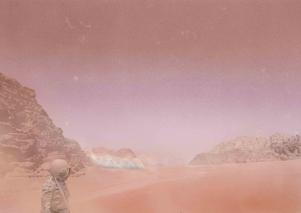 Visualization of the city, based on photographs from our expedition to the Wadi Rum Desert of Jordan.