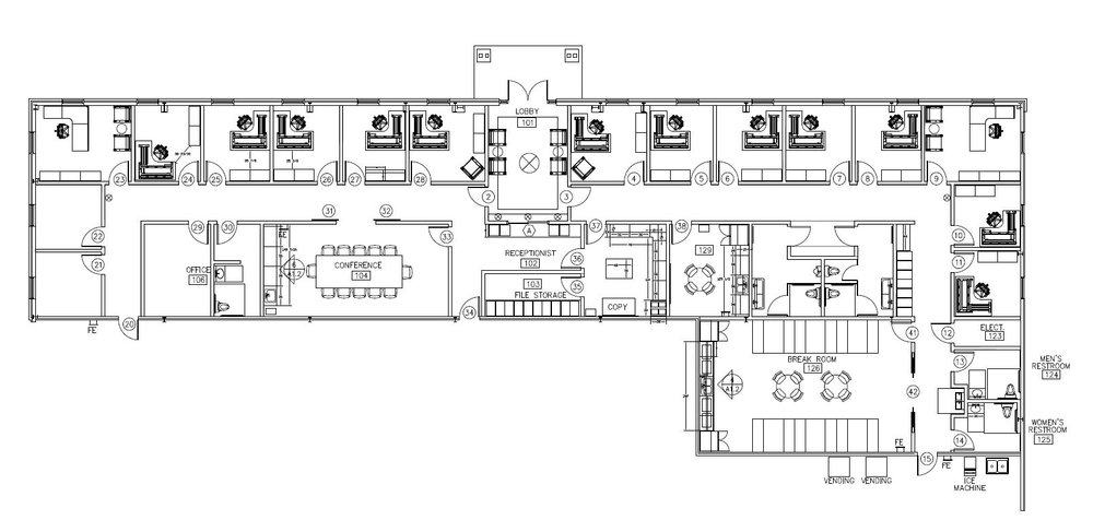 RUSSWOOD OFFICE BUILDING - Space Planning CAD drawing.JPG