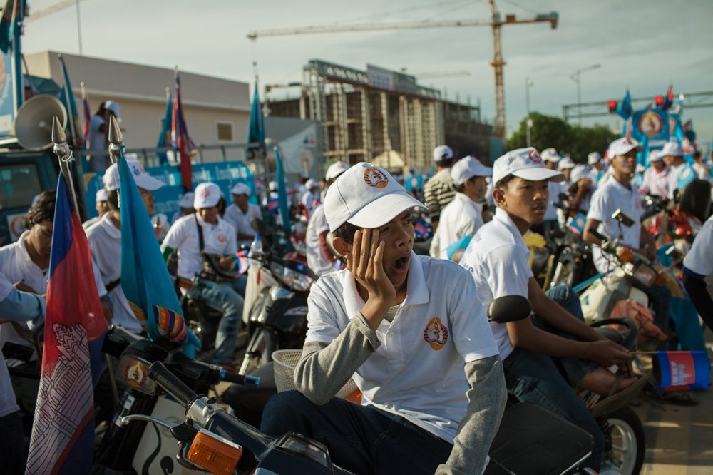 Last day of campaign for the Cambodian General Elections 2013