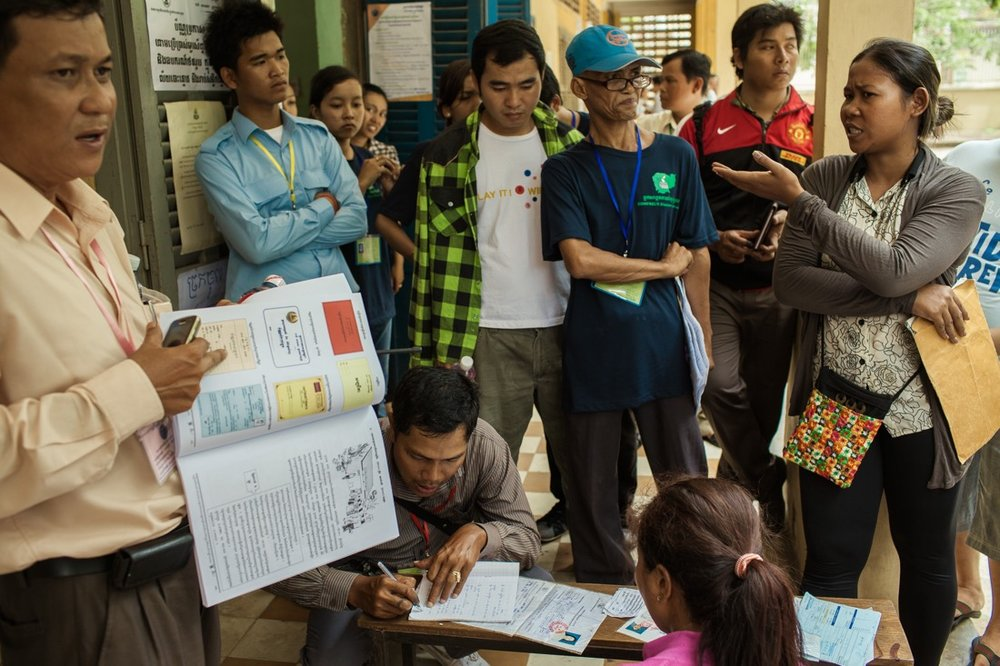 Cambodia votes for the General Elections 2013