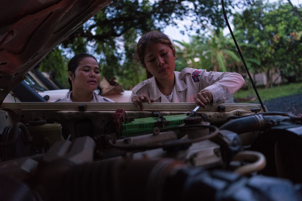 NPA's female UXO clearing team