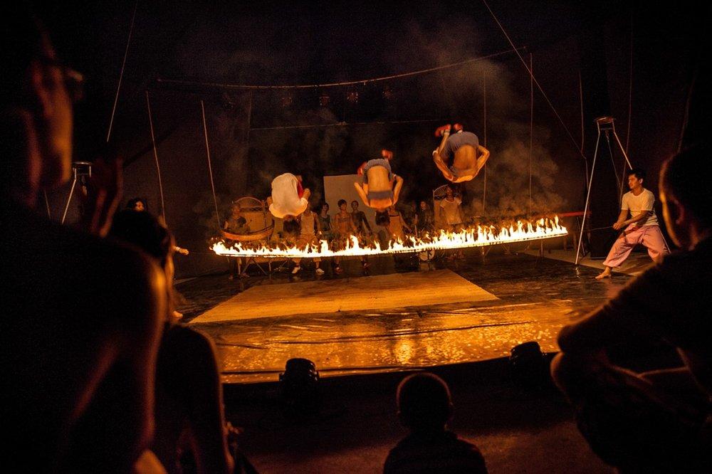 The school of circus of Battambang