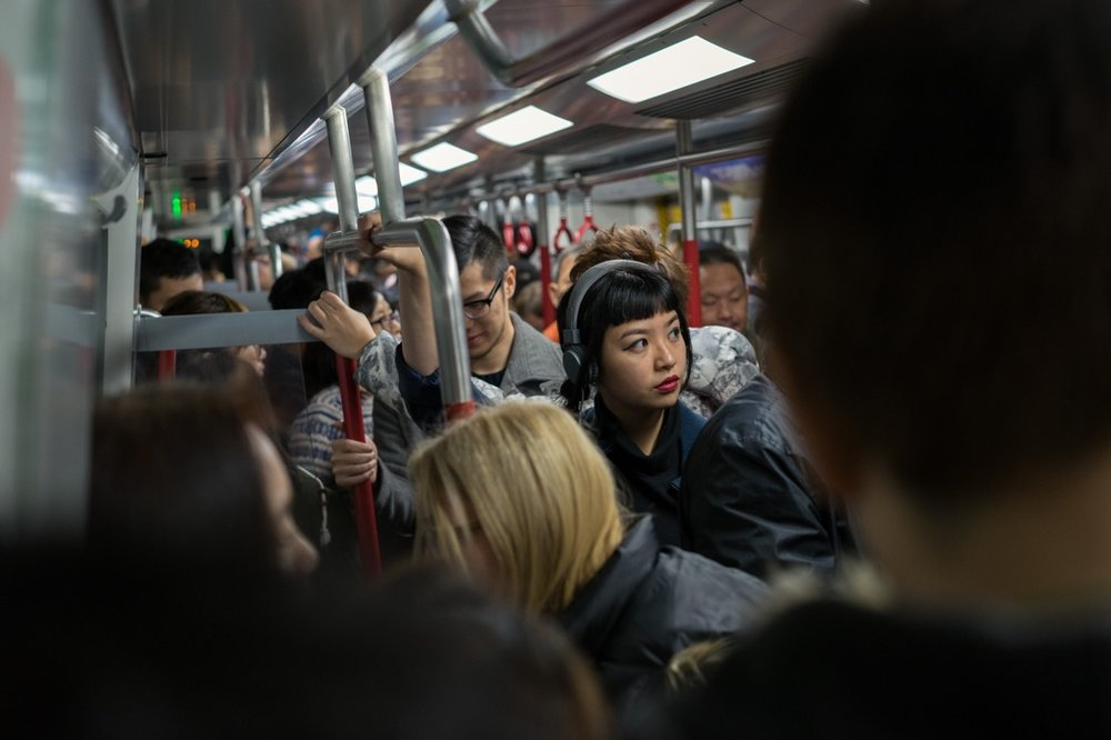 December 29, 2014 - Hong Kong. Rush hour in the metro of Hong Kong. © Thomas Cristofoletti / Ruom