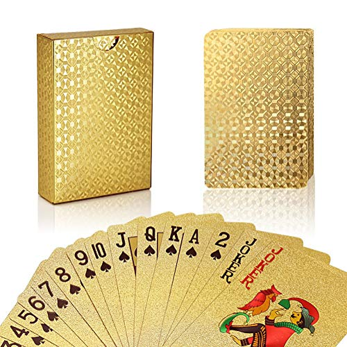 Deck of Cards - You'll be the best gift giver at the party if you show up with something that everyone can enjoy- it's perfect for families and friends to play anything from Crazy Eights to Go Fish with. This deck in particular is a little more upscale, as it's covered in golf foil and made of high quality paper. Find it here.