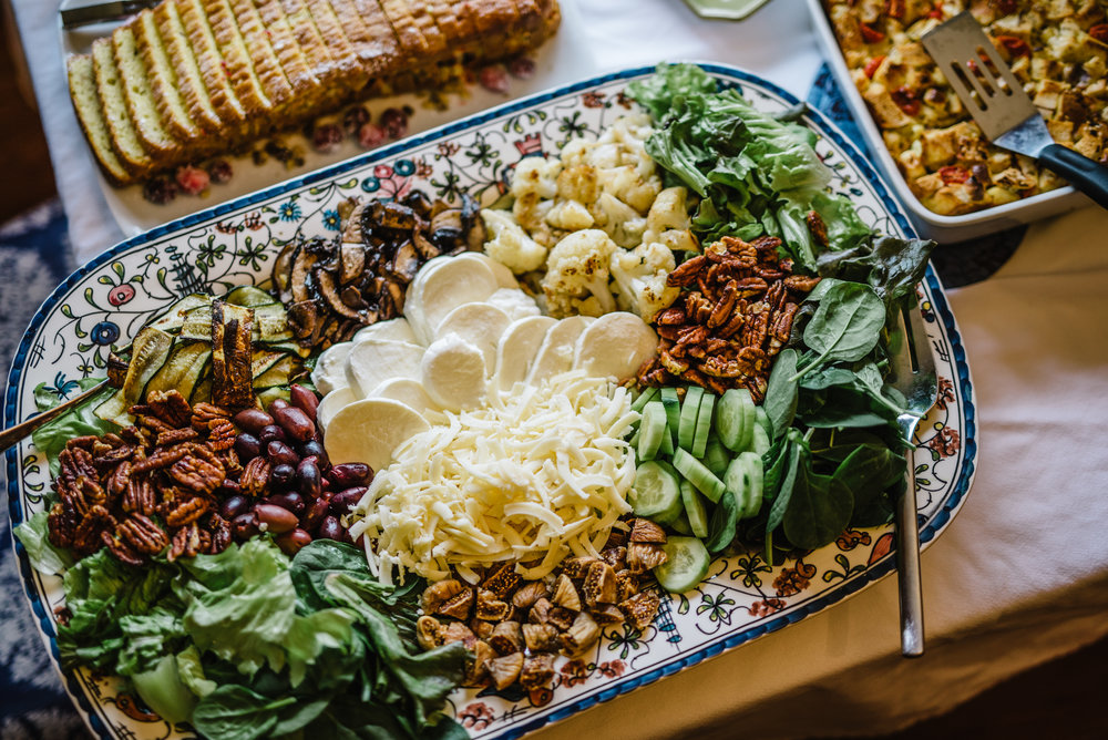 An amazing spread of grilled vegetables, fresh greens, nuts, olives and cheeses assembled by my friend, Jaminda. Delicious! Photos by Rachel Cuthbert Photography