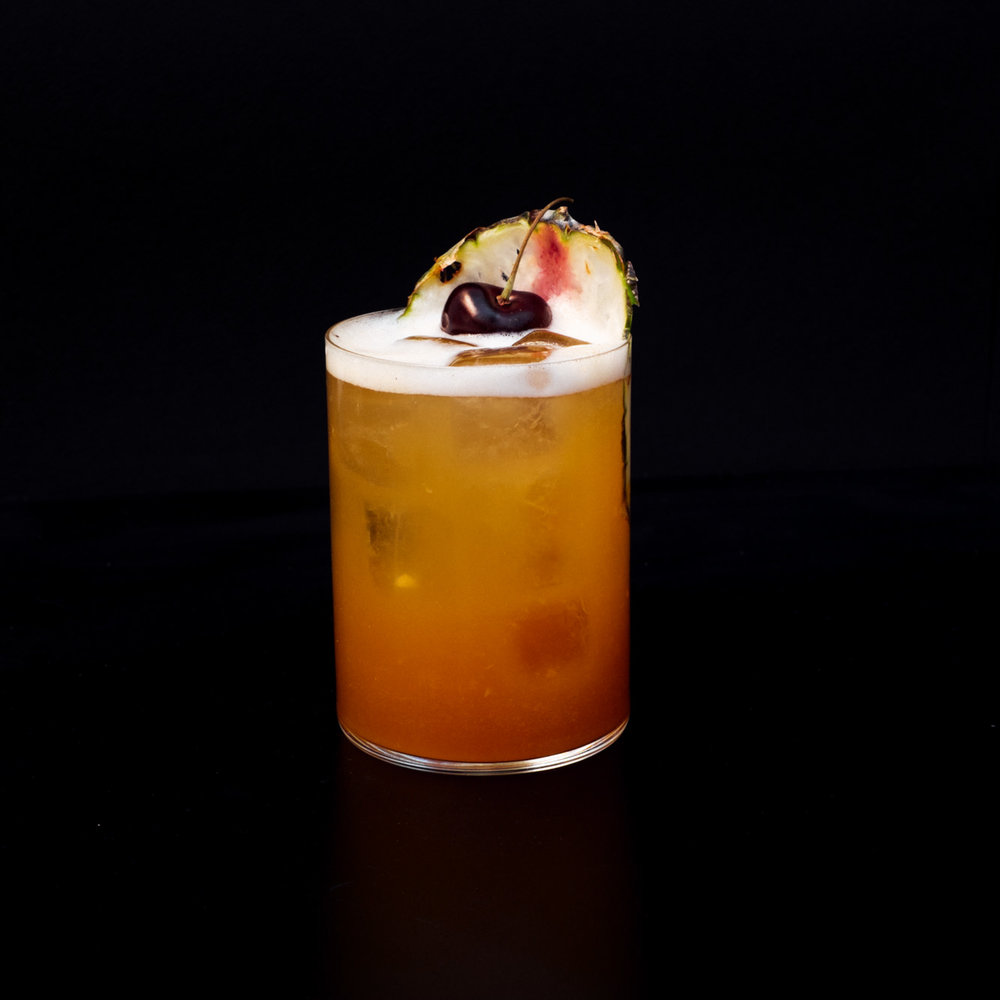 Beijing Sling - Beefeater Gin, House Cherry Vermouth, House Spice, Pineapple, Citrus