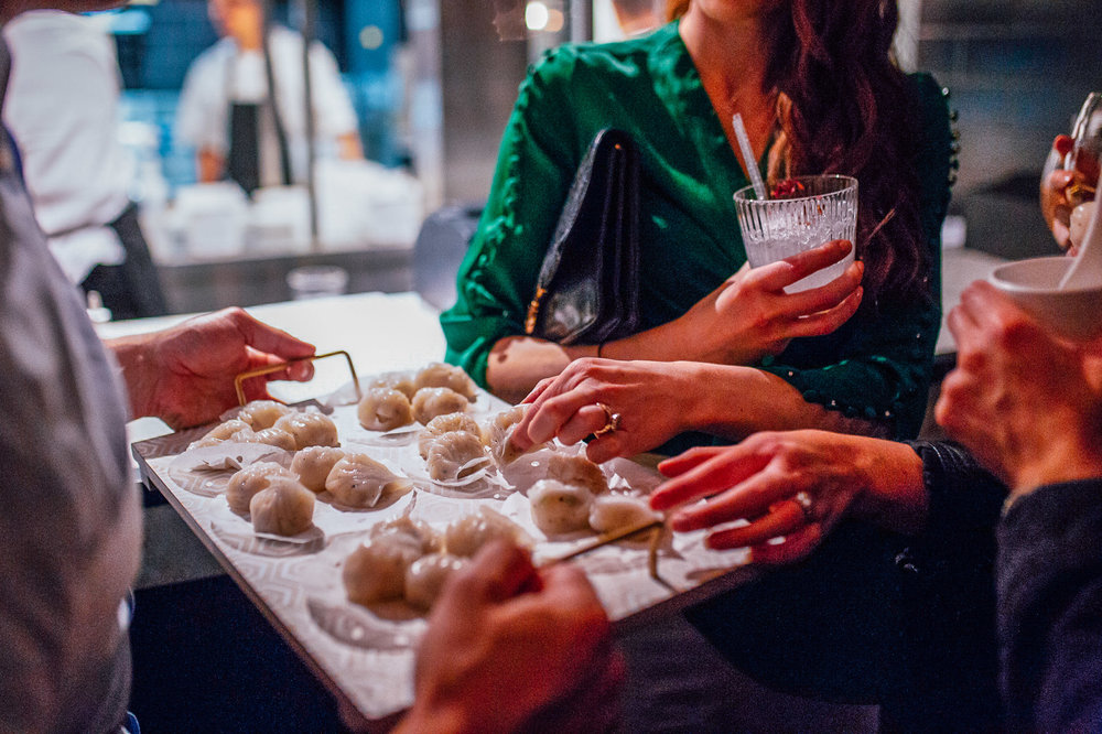 "- ""Our Chinese-style canapés are a cut above the usual function fare, delicious and easy to eat while nursing a drink in the other hand (think oysters, dumplings, Bao and steamed pork buns)."""