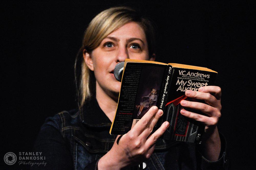 Meredith Goldstein at Literary Death Match, Boston, 2012