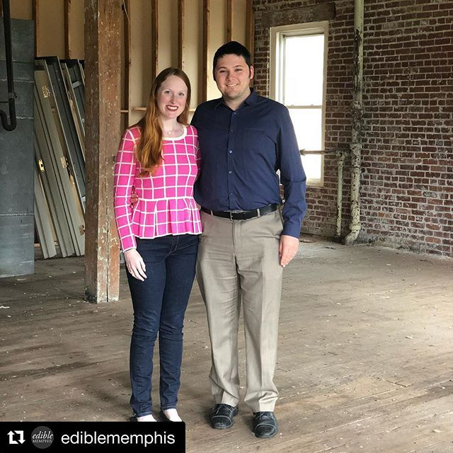 """🎉🎉We have a fancy new home in the Edge District!!🎉🎉 Huge thank you to our friends at @ediblememphis for helping us share the news! • • #Repost @ediblememphis with @get_repost ・・・ We've got great news for cider lovers (and gluten haters)! Century Tree Cider Company announced today that they will be opening a production facility and taproom in a lovely two story building (484 Union) just across the way from Edge Alley & High Cotton in the late summer/early fall of 2019. The storefront will face the parking lot to the east and there will be a second floor patio. Plans to connect the cidery to the existing Edge District are also in the works. . Meredith (Head Ciderwoman) & Peter (Creative Guru) DeLeeuw, along with Meredith's mother, Audrey O'Neil (Business Genius), worked with both the Memphis Medical District Collaborative and Downtown Memphis Commission to bring their dreams to fruition. This urban craft cidery plans to change the way the world thinks about cider by pushing the boundaries of fermentations through scientific method, innovative flavors, and quality ingredients. . """"Curious to the Core"""" they'll brew experimental batches such as Double Hopped Cider and  Coffee Cider. Century Tree Cider is completely dry or sweetened with honey or juice and will be made from fresh pressed 100% apple juice from fourth generation apple growers in Washington and Virginia. . They'll be kegging their first year and canning the second. That bottle you see? They're currently home bottling for friends and family only. Follow along as they start construction and go ahead and get some merch! 🍎 #ediblememphis #edgedistrictmemphis #centurytreecider #urbancidery"""