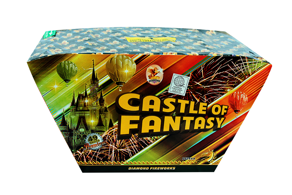 "Castle of Fantasy49shots 1.2"" Z Shaped assorted colors & effects Great for finale's! NEW!!!"