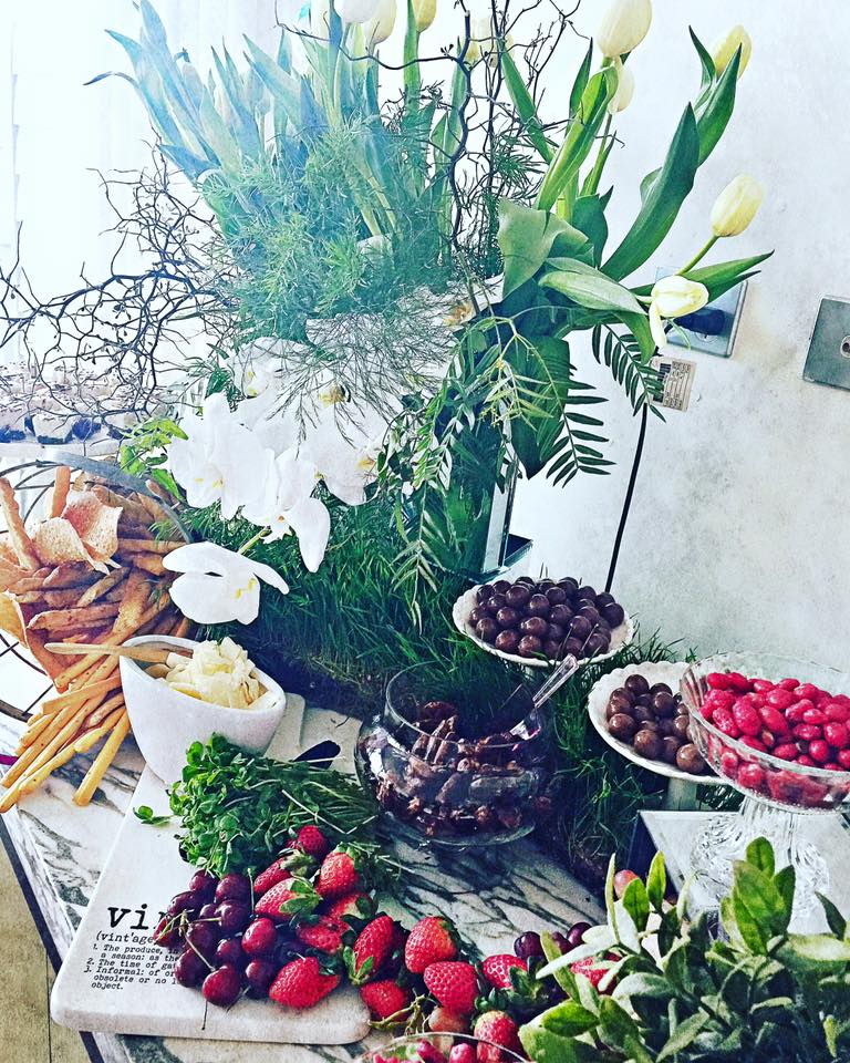 The best part of styling a grazing table is you can combine all types of food from some cheeky sweet treats to seasonal berries and fruits.