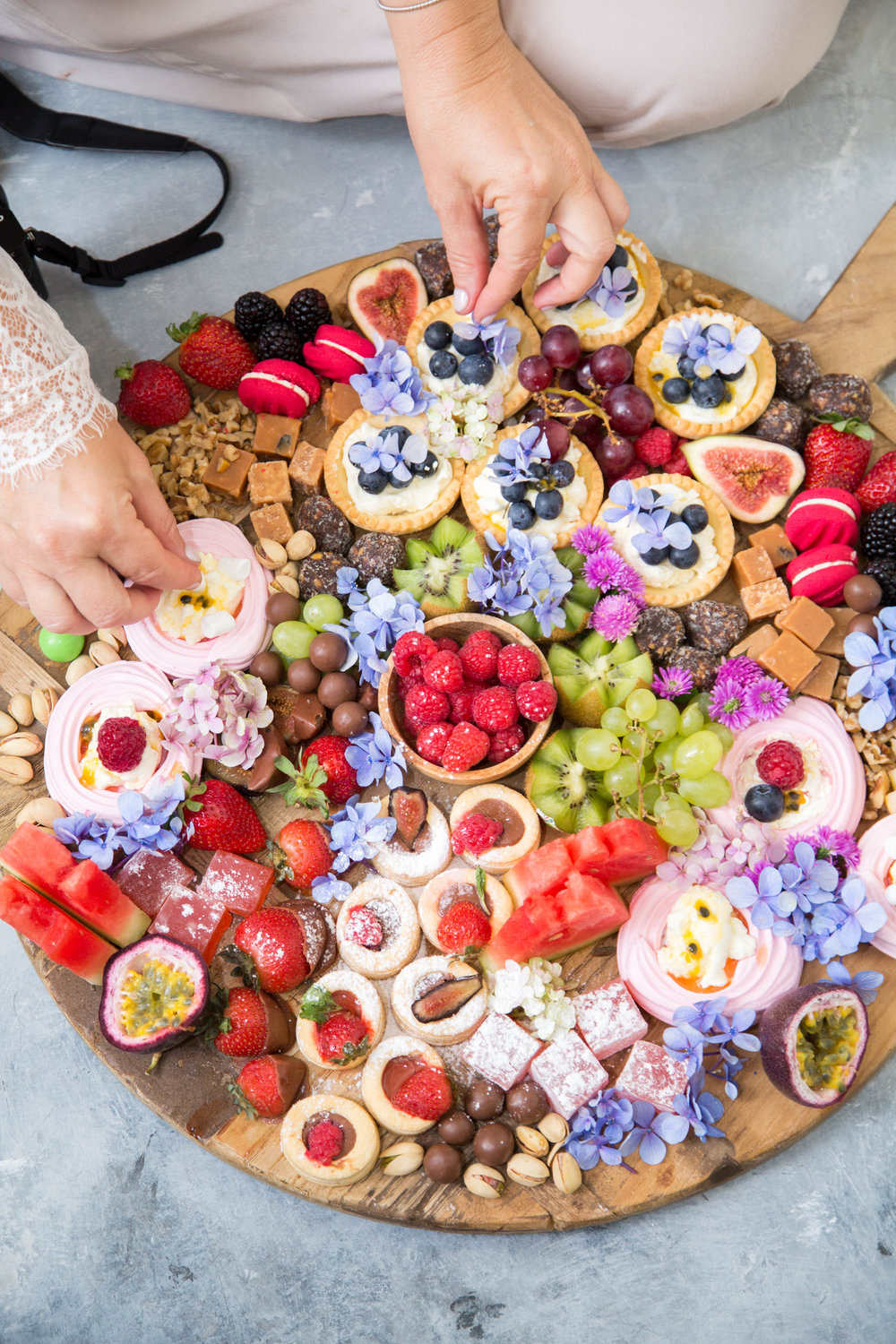 This delicious dessert platter is so easy to create a real show stopper!