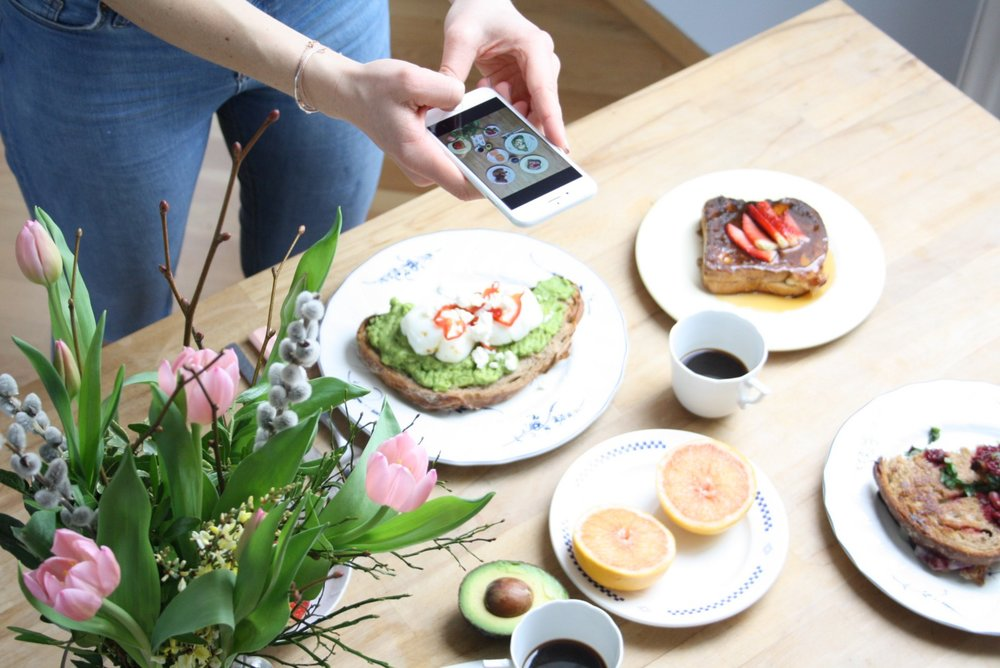 1 -2 people take food photos on their mobiles. When it comes to food the camera really does eat first!