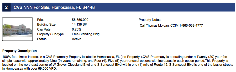 CVS NNN FL For Sale