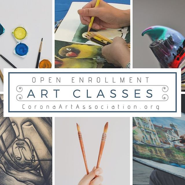 Enrollment is now open for June Art Classes!  Each class is limited in seating, enroll today and reserve yours!  #SoCalArtClasses #CoronaArts #ArtGallery #OilClass #AcrylicClass #SoCalArtist #CAA #ArtAssociation #AdultArtClasses