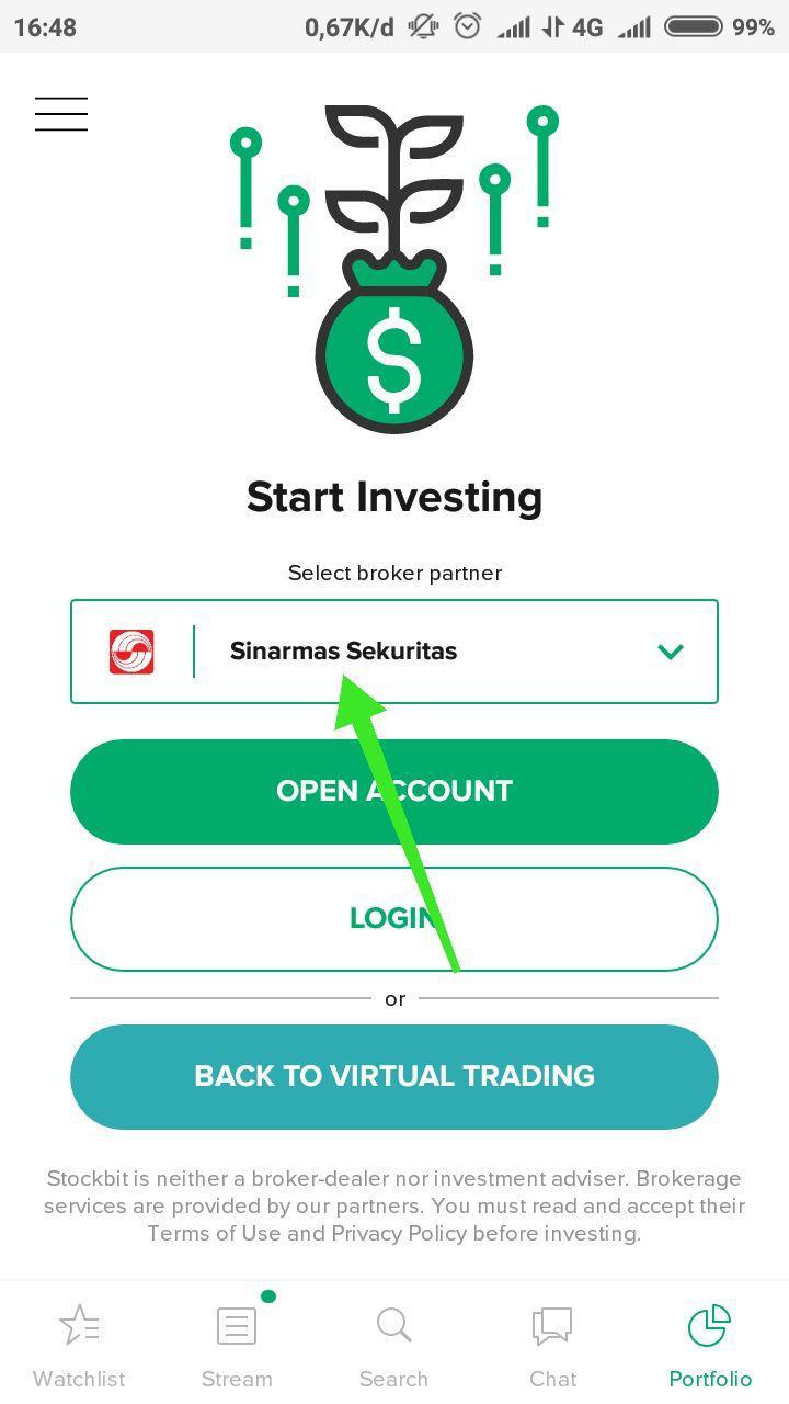 2. Broker atau Perusahaan Sekuritas - Broker/Perusahaan Sekuritas adalah jembatan antara investor dengan pasar modal, perusahaan ini memiliki lisensi dari OJK.Untuk membeli saham, kamu harus membuka rekening saham di perusahaan sekuritas/broker ini.Contoh perusahaan sekuritas adalah Sinarmas Sekuritas yang saat ini bekerja sama dengan Stockbit.Baca Selengkapnya : Buka Rekening Saham di Stockbit