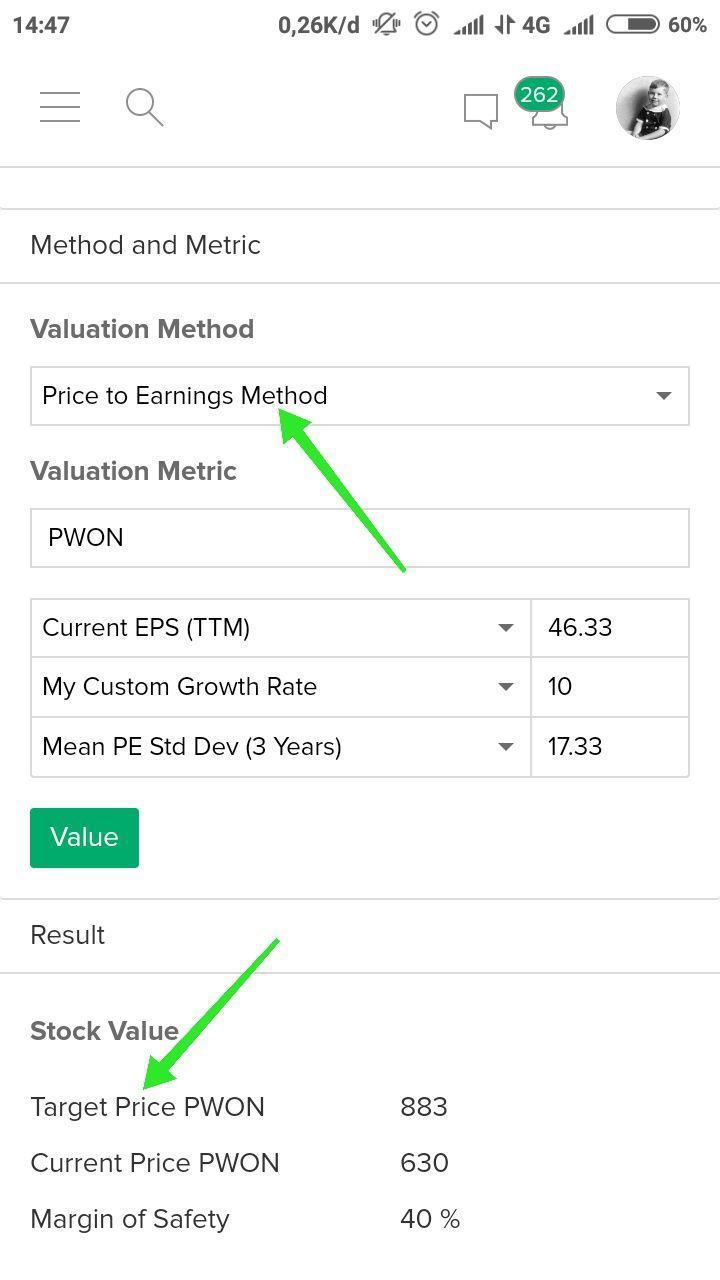 28. Nilai Intrinsik (Valuasi Saham) - Nilai intrinsik menunjukkan harga wajar dari suatu saham berdasarkan analisa fundamental dan valuasi yang telah dilakukan.Ketika harga wajar lebih tinggi dari harga saham saat ini, maka investasi di saham tersebut layak untuk dilakukan.