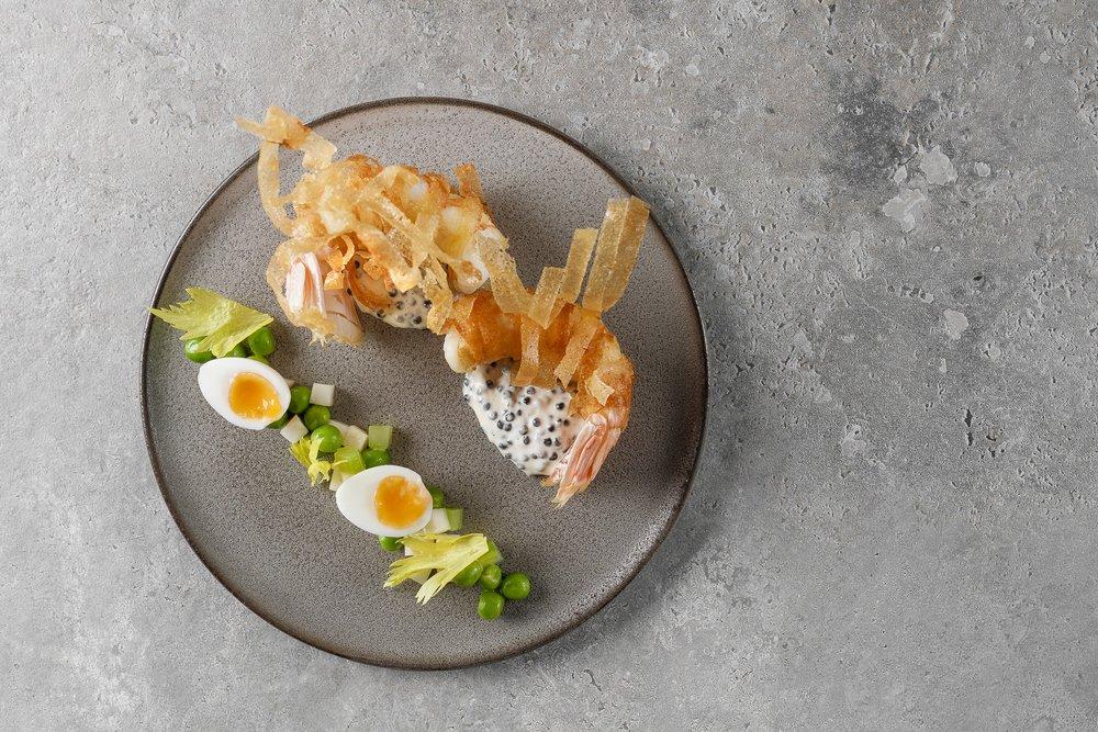 scampi • potato salad • caviar • 2010