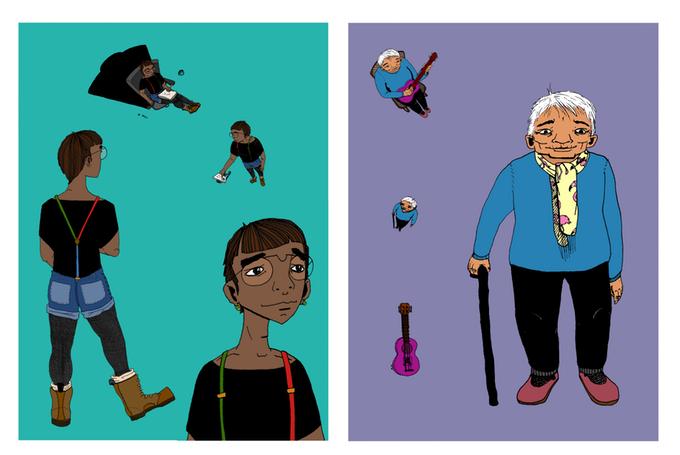 Sarah's Art & Books - Follow her on Instagram & Facebook @maloneydoodlesBack-up We Watches Us on Kickstarter Now!