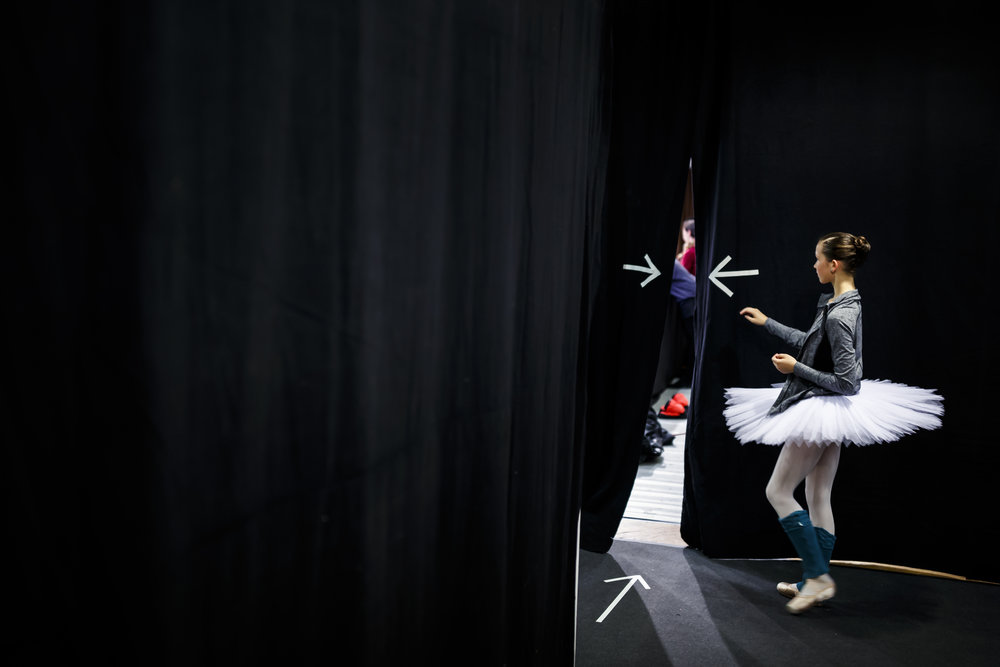 A dancer arrives to a dance class during the first day of the 46th Prix de Lausanne in Lausanne, Switzerland, Monday, January 29, 2018. Launched in 1973, the Prix de Lausanne is an international dance competition for young dancers aged 15 to 18. Closing the six-day event, prizes are awarded to the best finalists consisting of scholarships granting free tuition in a world-renowned dance school or dance company. (KEYSTONE/Valentin Flauraud)