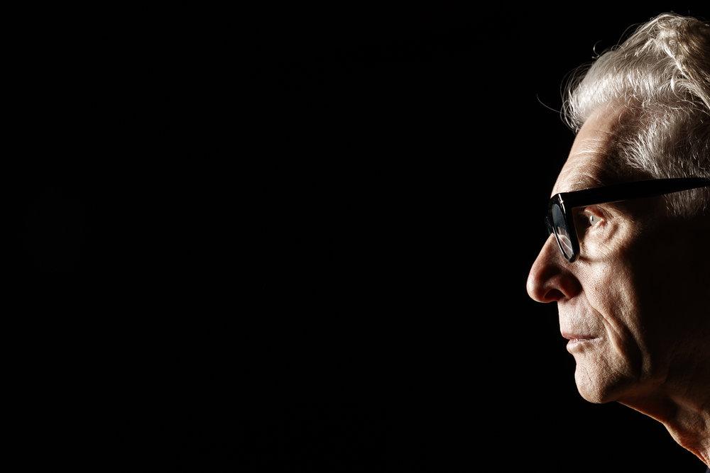 Canadian film director, screen writer and actor David Cronenberg poses for a portrait during the Neuchatel International Fantastic Film Festival (NIFFF) in Neuchatel, Switzerland, Sunday, July 8, 2018. (KEYSTONE/ Valentin Flauraud)