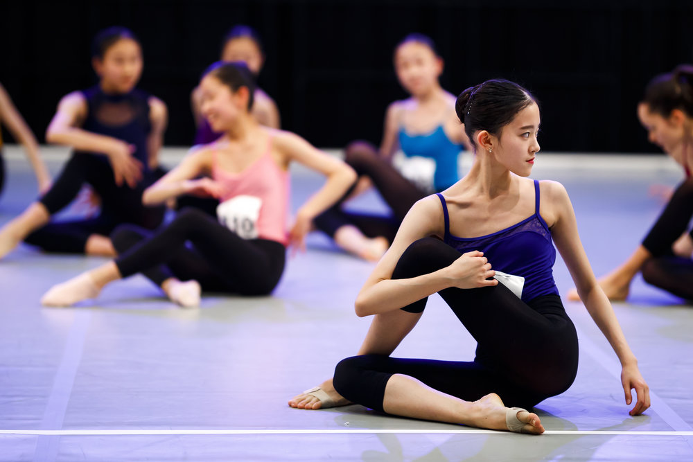 Dancers take part in a contemporary dance class during the first day of the 47th Prix de Lausanne in Lausanne, Switzerland, Monday, February 4, 2019. Launched in 1973, the Prix de Lausanne is an international dance competition for young dancers aged 15 to 18. Closing the six-day event, scholarships granting free tuition in a world-renowned dance school or dance company will be award to the best dancers out of 74 participants this year. (KEYSTONE/Valentin Flauraud)