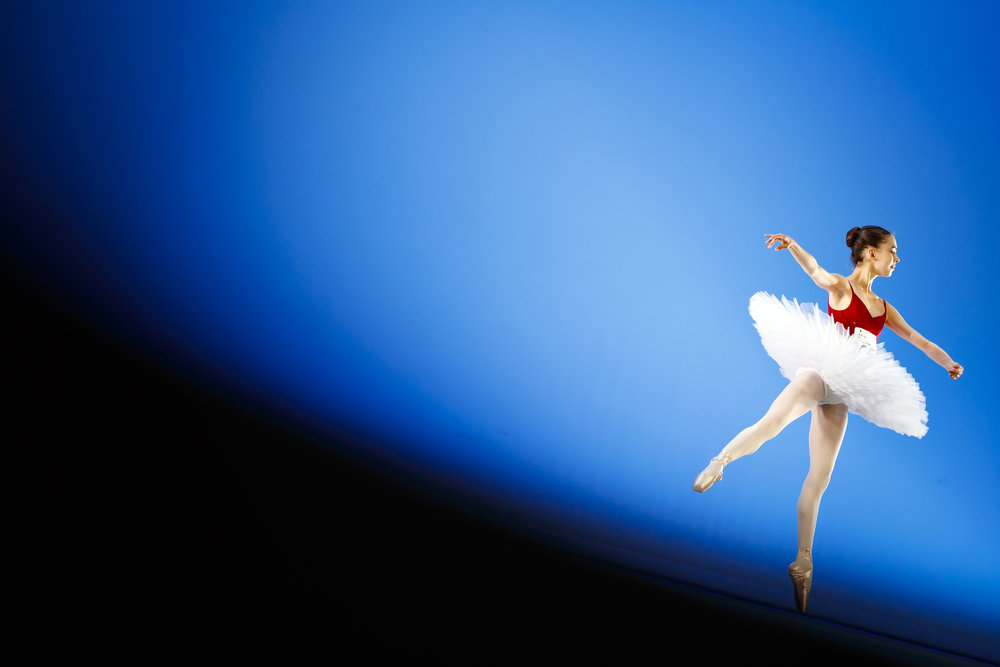 A dancer performs on stage during the first day of the 47th Prix de Lausanne in Lausanne, Switzerland, Monday, February 4, 2019. Launched in 1973, the Prix de Lausanne is an international dance competition for young dancers aged 15 to 18. Closing the six-day event, scholarships granting free tuition in a world-renowned dance school or dance company will be award to the best dancers out of 74 participants this year. (KEYSTONE/Valentin Flauraud)