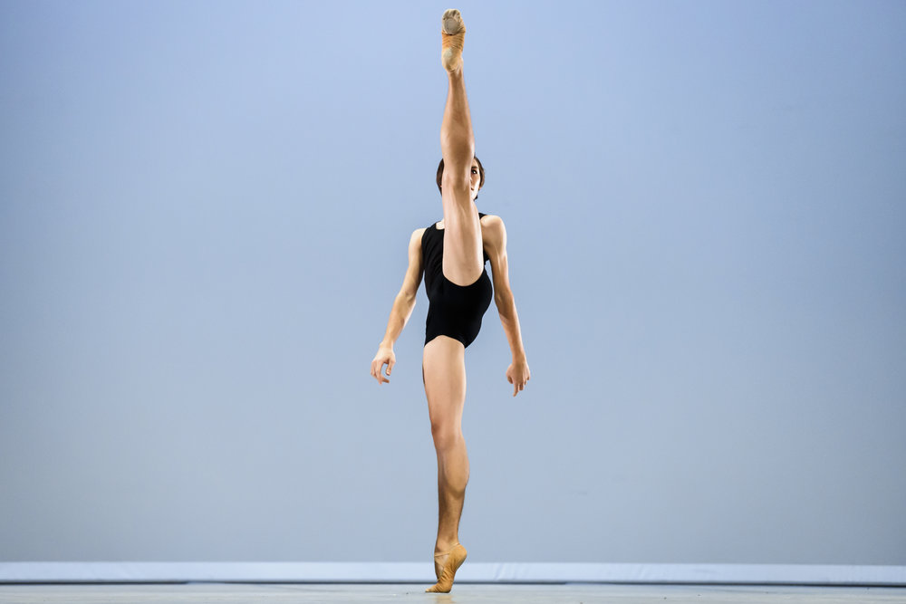 Gabriel Figueredo of Brazil, winner of the second prize, performs his contemporary variation during the final of the 47th Prix de Lausanne in Lausanne, Switzerland, Saturday, February 9, 2019. Launched in 1973, the Prix de Lausanne is an international dance competition for young dancers aged 15 to 18. Closing the six-day event, scholarships granting free tuition in a world-renowned dance school or dance company are awarded to the best dancers out of 74 participants this year. (KEYSTONE/Valentin Flauraud)
