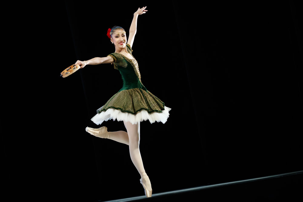 Sumina Sasaki of Japan, winner of the third prize, performs her classical variation during the final of the 47th Prix de Lausanne in Lausanne, Switzerland, Saturday, February 9, 2019. Launched in 1973, the Prix de Lausanne is an international dance competition for young dancers aged 15 to 18. Closing the six-day event, scholarships granting free tuition in a world-renowned dance school or dance company are awarded to the best dancers out of 74 participants this year. (KEYSTONE/Valentin Flauraud)