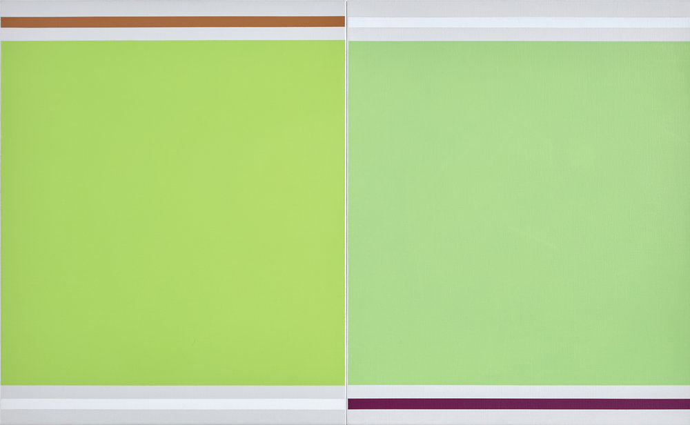 Green with Green,  2016-2017  acrylic on Belgian linen  80 x 130 cm