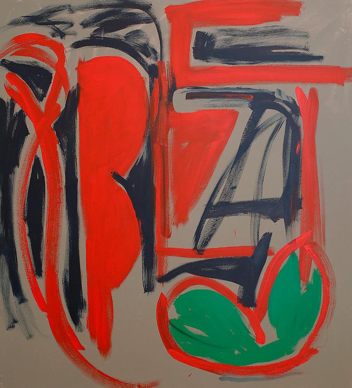 The Shrike , 2017  acrylic on canvas  167 x 152 cm