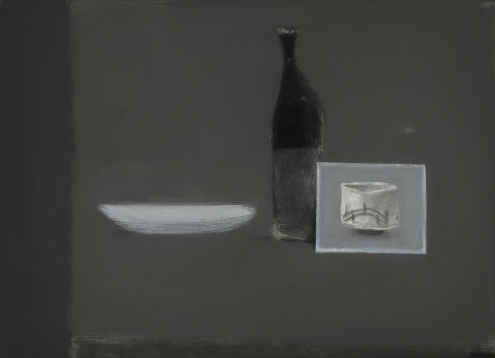 Postcard & white dish , 2017  oil on canvas  66 x 91.5 cm