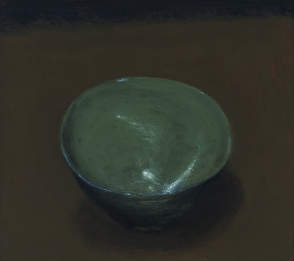 Green bowl , 2017  oil on canvas  41 x 46 cm