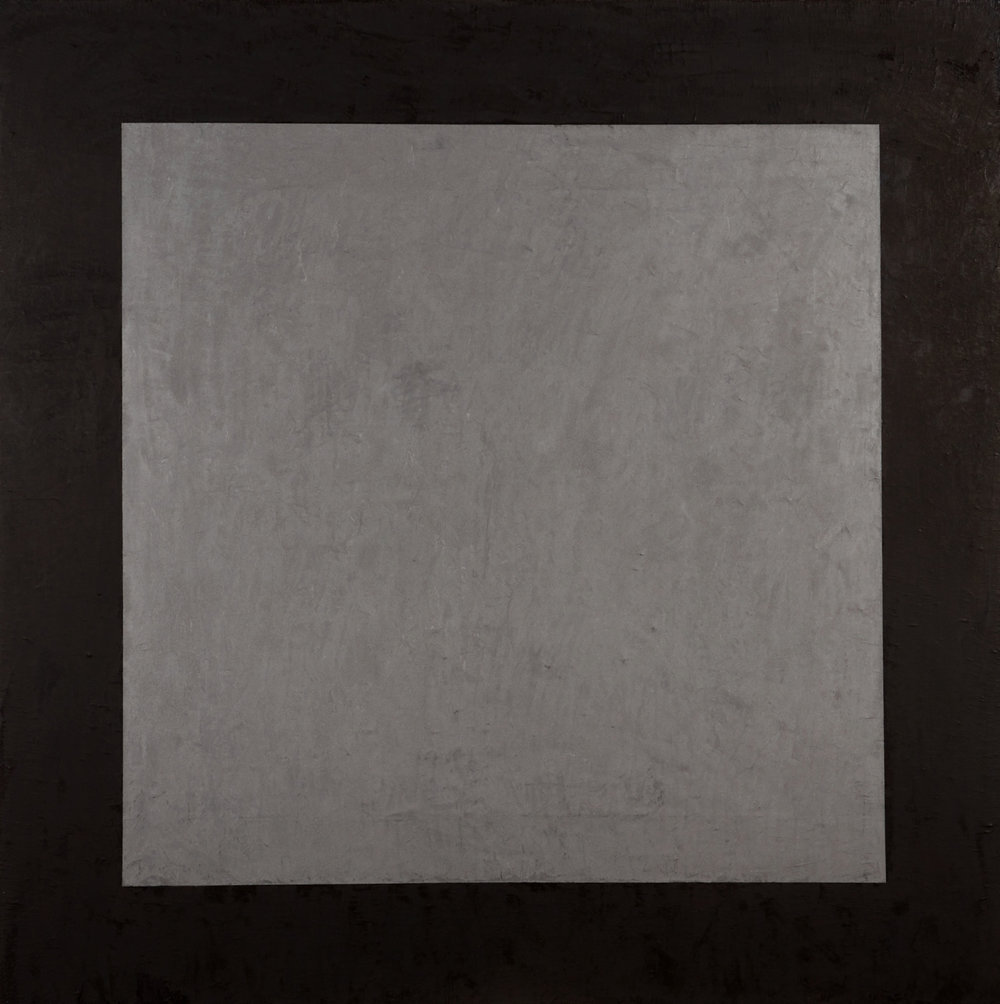 Grey Painting 2 , 2016  oil, wax and enamel on linen  153 x 153 cm