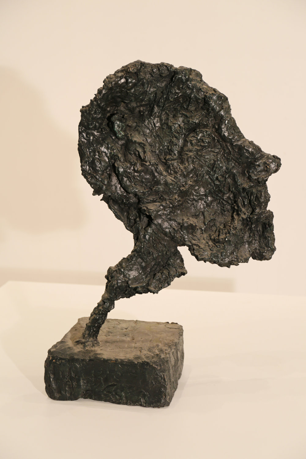 Kevin Connor   Head IV , 2000  bronze, edition 5 of 5  80 x 55 x 27 cm