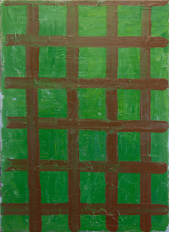 Green Plaid Painting , 2017  oil on canvas  76 x 56 cm