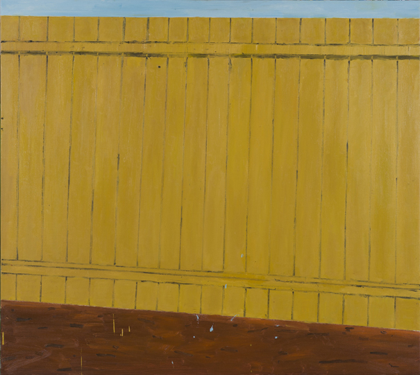 A Fence , 2017  oil on linen  137.5 x 153.5 cm