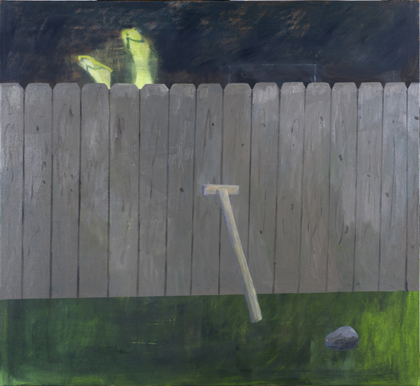 Backyard , 2017  oil on canvas  168 x 183 cm