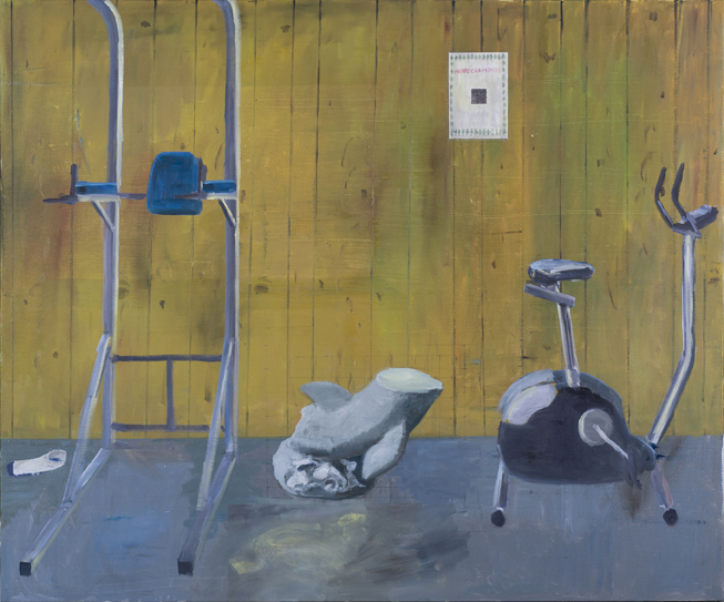 Exercise Equipment , 2017  oil on linen  153 x 183 cm
