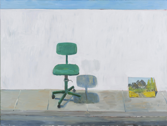 Green Seat , 2017  oil on linen  137 x 183 cm