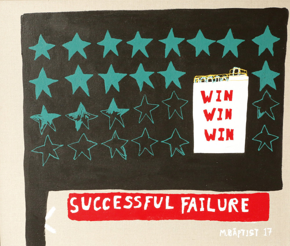 Successful Failure , 2017  acrylic and enamel on linen  56 x 72 cm