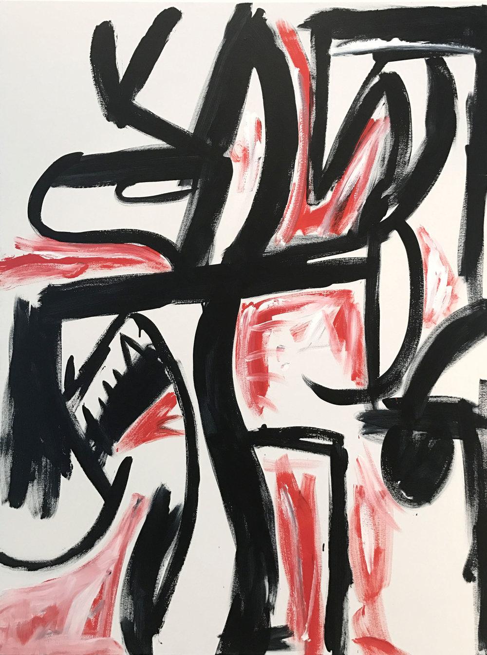 New Black Snake Moon , 2016  acrylic on canvas  183 x 137 cm
