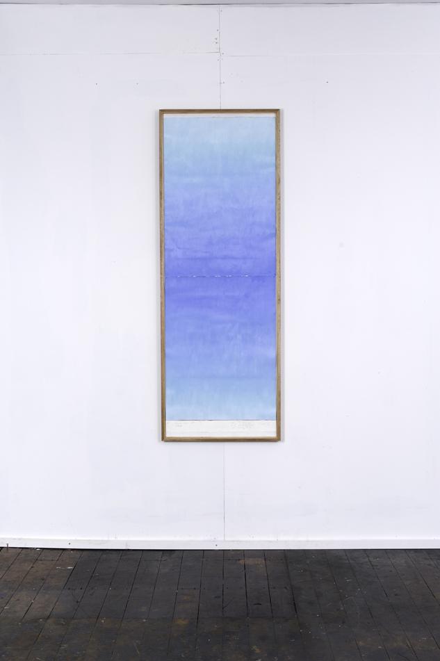 RH 261 Shinjuku, Japan (1157 120216) , 2016  oil paint, synthetic polymer, marble dust, wax, cotton rag paper, Tasmanian Oak, Museum glass  161 x 58 x 4 cm