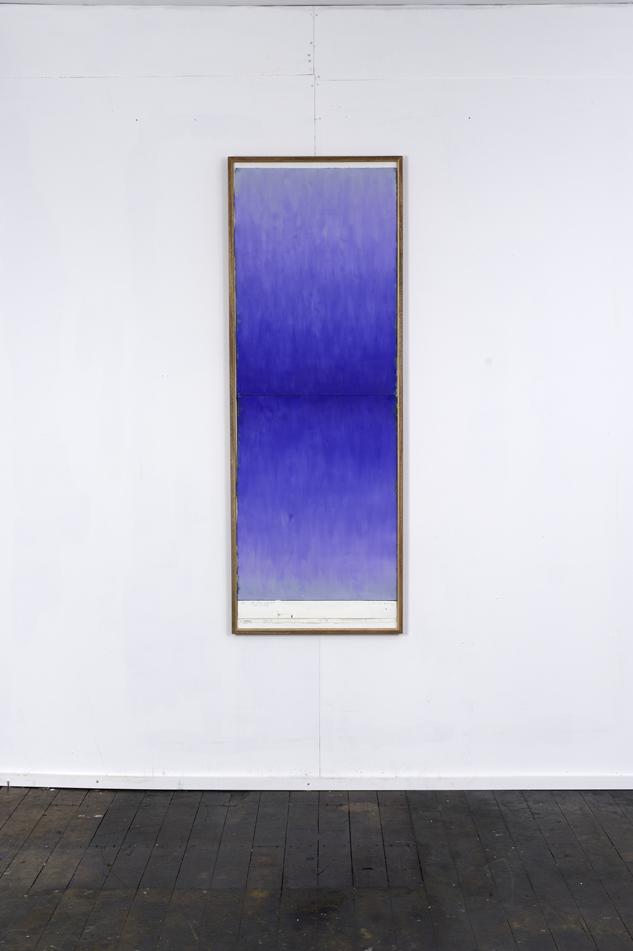 RH 263 Mt Titlis, Switzerland (1930 290114) , 2016  oil paint, synthetic polymer, marble dust, wax, cotton rag paper, Tasmanian Oak, Museum glass  161 x 58 x 4 cm