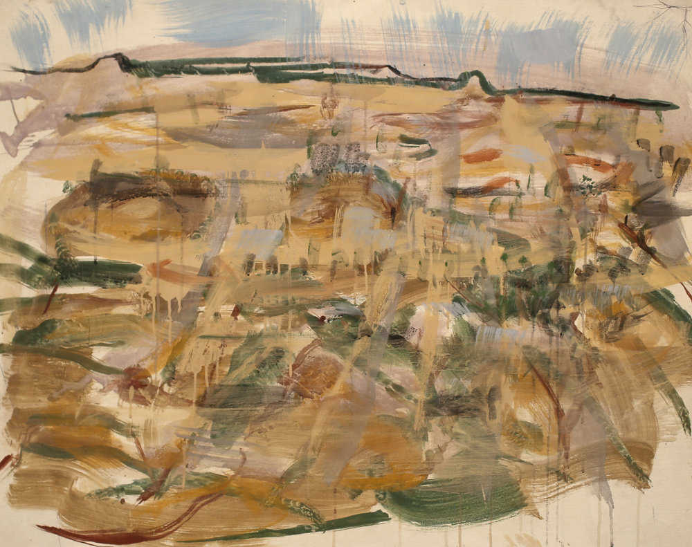 JOE FURLONGER   Dundas Landscape , 2018  pigment and PVA binder on canvas  79 x 103 cm
