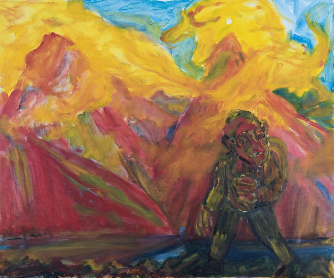 KEVIN CONNOR   Mountain and sunset mist , 2016  oil on canvas  102 x 112 cm