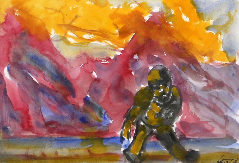 KEVIN CONNOR   Mountain Studies, N.Z. (3)  ,   2016  watercolour on paper  28 x 40 cm